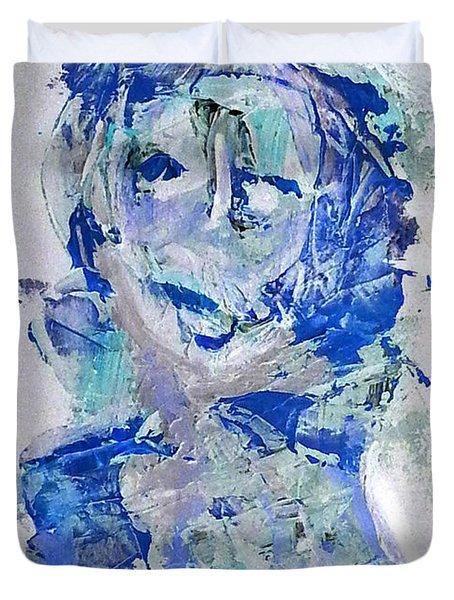 She Dreams In Blue Duvet Cover