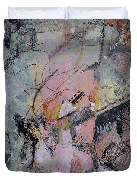Duvet Cover featuring the mixed media She Got Lost On Purpose by Robin Maria Pedrero
