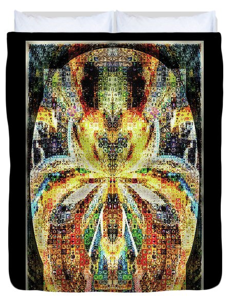 She Is A Mosaic Duvet Cover by Paula Ayers