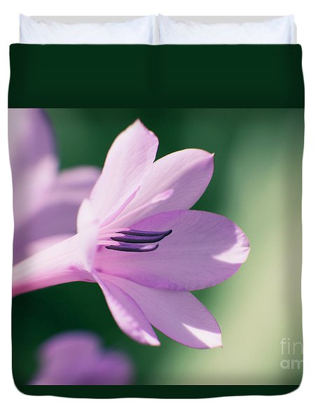 Duvet Cover featuring the photograph She Listens Like Spring by Linda Lees