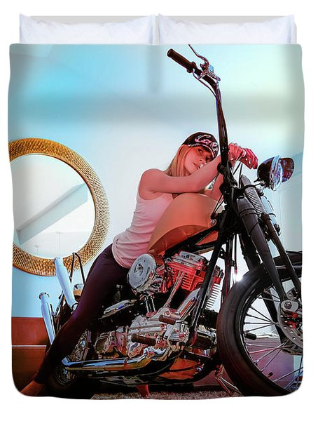 She Rides- Duvet Cover