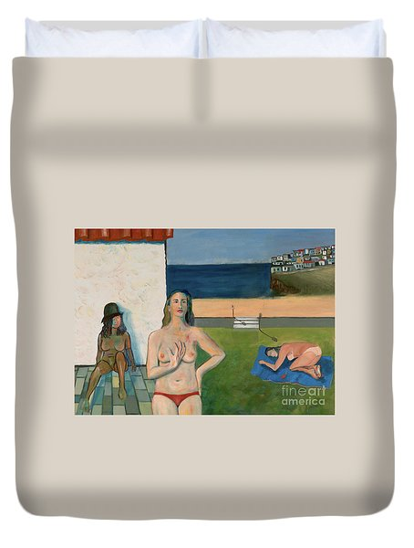 She Walks In Beauty Duvet Cover
