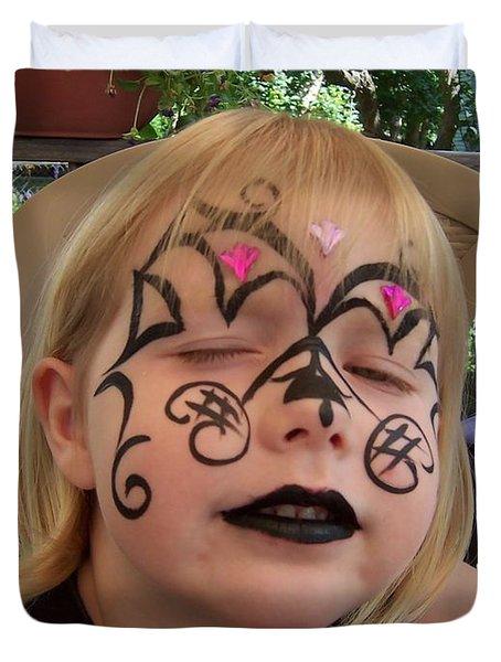 She Wanted A Tough Face Duvet Cover