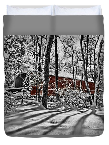 Sheard's Mill Covered Bridge 1873 Duvet Cover