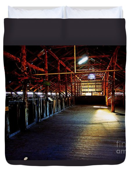 Shearing Shed From A Bygone Era Duvet Cover by Blair Stuart