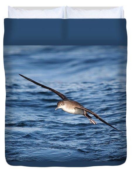 Duvet Cover featuring the photograph Shearwater by Richard Patmore