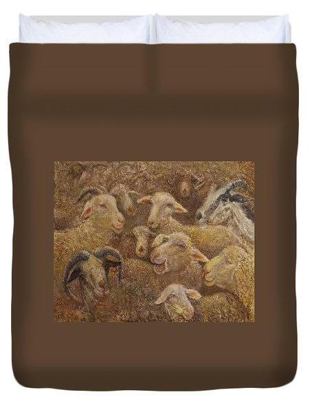 Sheep And Goats Duvet Cover