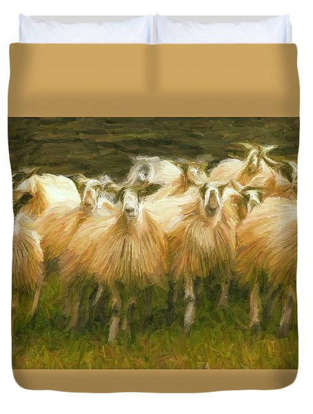 Sheep At Hadrian's Wall Duvet Cover