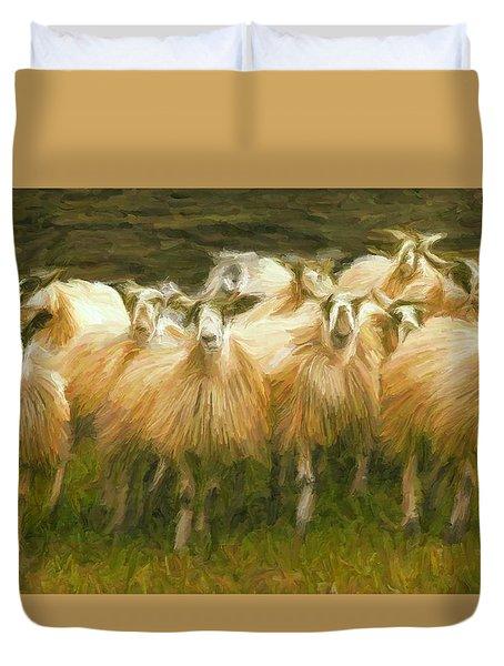 Sheep At Hadrian's Wall Duvet Cover