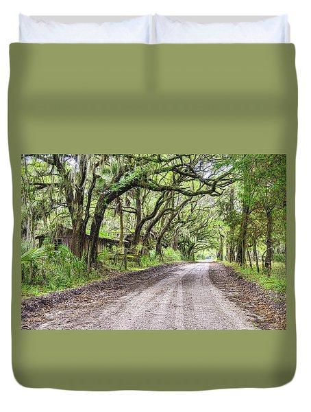 Sheep Farm On Witsell Rd Duvet Cover