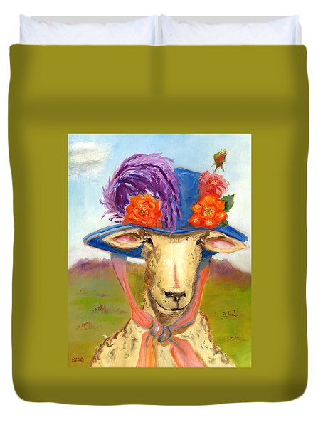 Sheep In Fancy Hat Duvet Cover