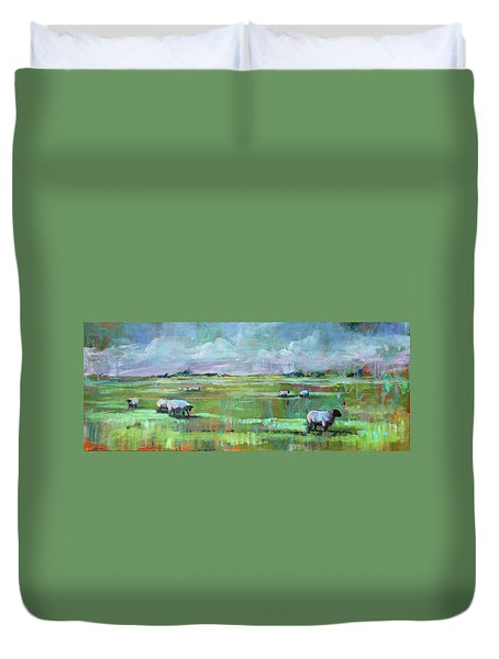 Sheep Of His Field Duvet Cover