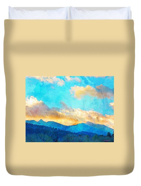 Sheeps Head And Truchas Peaks-predawn December Duvet Cover by Anastasia Savage Ealy