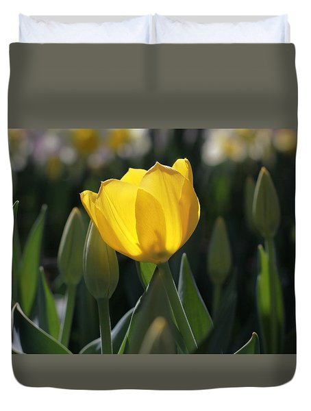 Sheer Yellow Duvet Cover