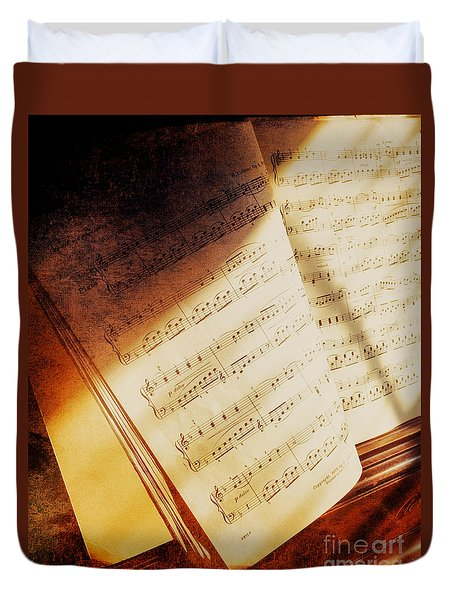 Sheet Music Duvet Cover by Eleanor Abramson