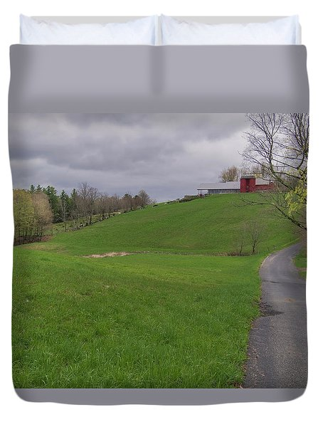 Shelburne Country Road Duvet Cover by Tom Singleton