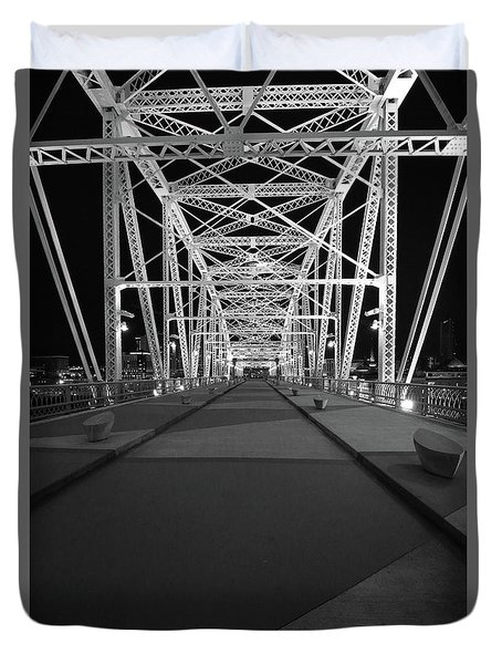 Shelby Bridge Bw Duvet Cover