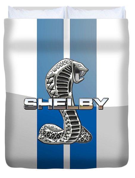 Shelby Cobra - 3d Badge Duvet Cover