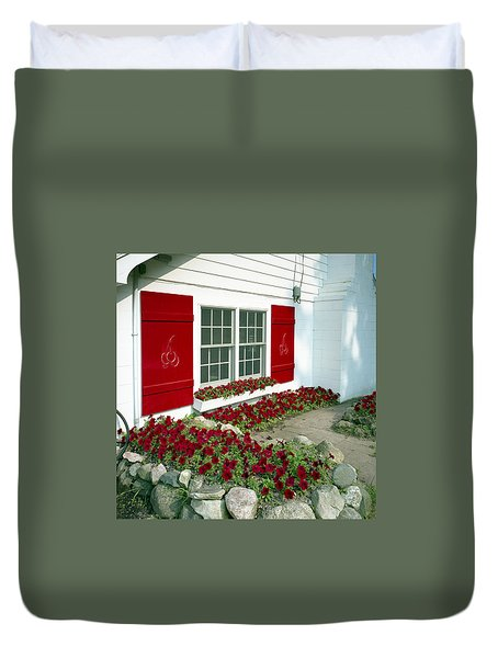 Shelby Flowers Duvet Cover
