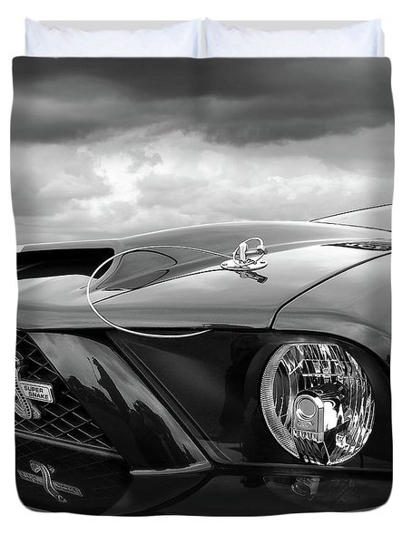 Shelby Super Snake Mustang Grille And Headlight Duvet Cover by Gill Billington