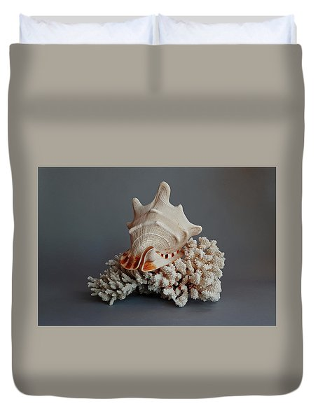 Shell And Coral Duvet Cover