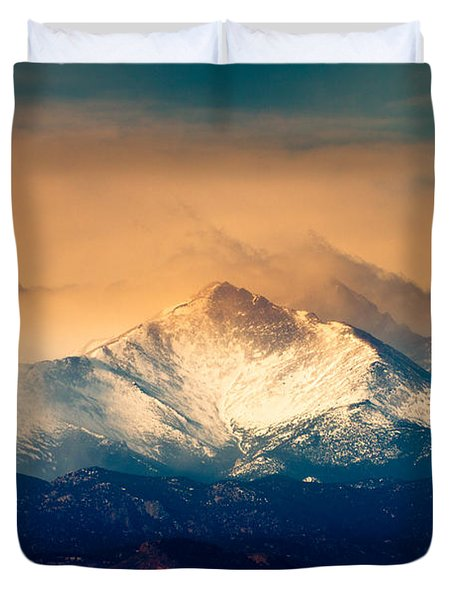 She'll Be Coming Around The Mountain Duvet Cover
