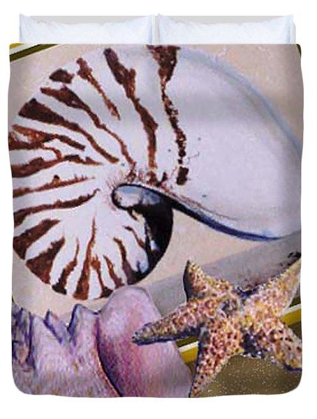 Shell Collage Duvet Cover