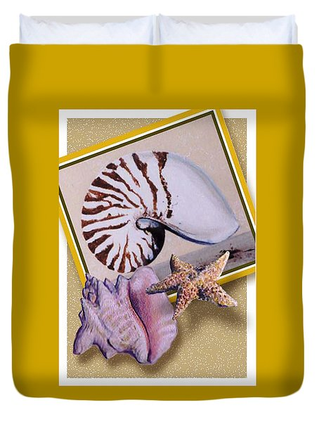 Shell Collage Duvet Cover