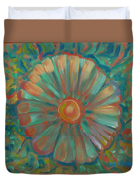 Shell Flower Duvet Cover by John Keaton