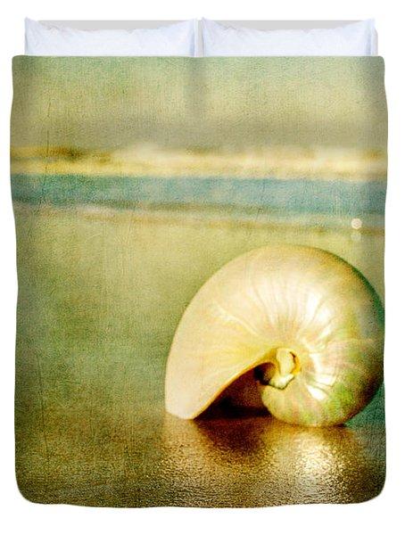 Shell In Sand Duvet Cover