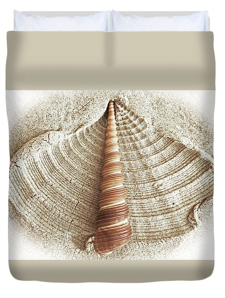Shell In The Sand Duvet Cover
