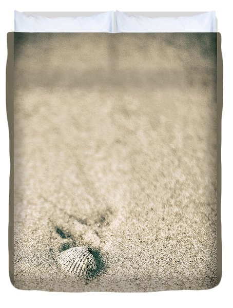Duvet Cover featuring the photograph Shell On Beach Alabama  by John McGraw