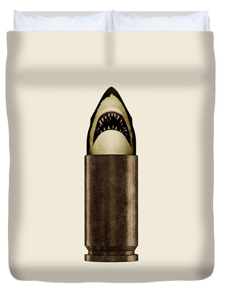 Shell Shark Duvet Cover by Nicholas Ely
