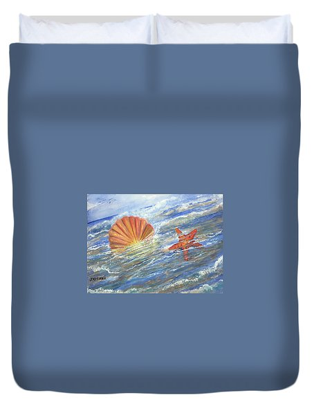 Shell Star  Duvet Cover