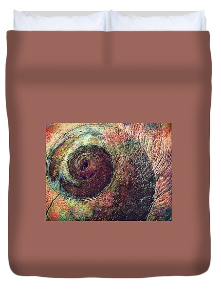 Duvet Cover featuring the photograph Shelled by Lori Seaman