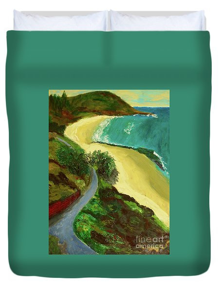 Shelly Beach Duvet Cover