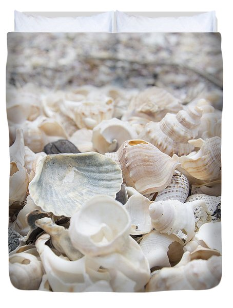 Duvet Cover featuring the photograph Shells 2 by Jocelyn Friis