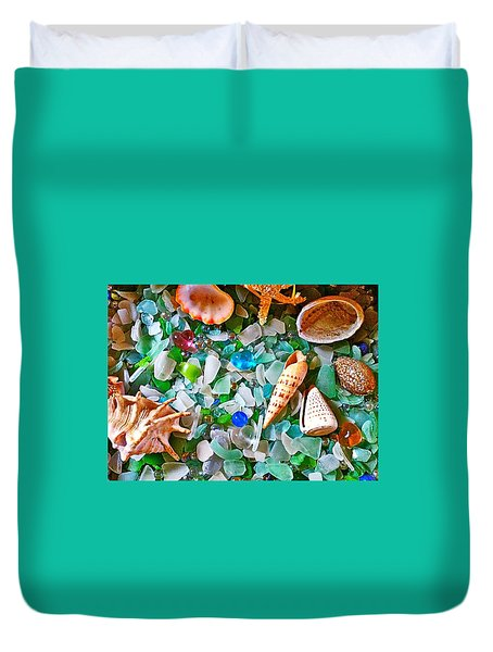 Shells And Glass Duvet Cover