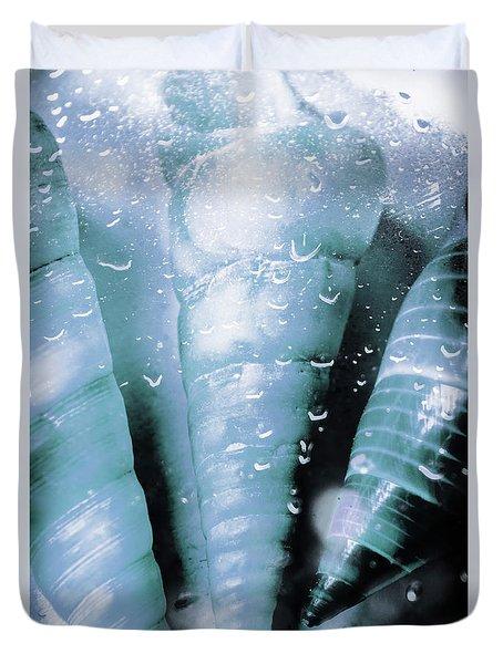 Shells And Ocean Spray Duvet Cover