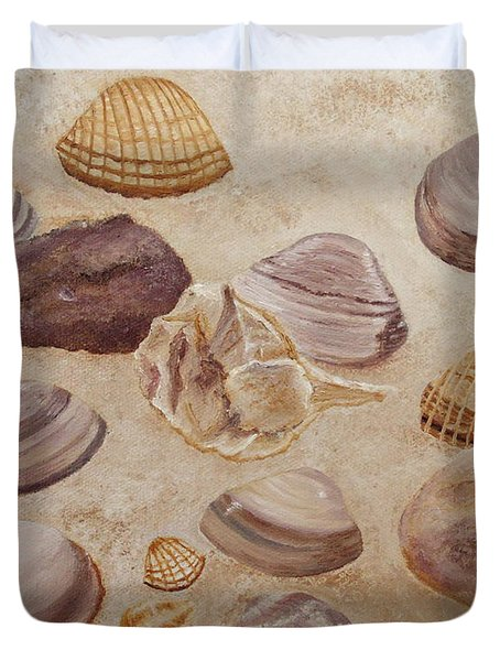 Shells And Stones Duvet Cover