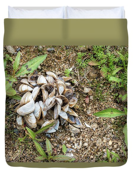 Duvet Cover featuring the photograph Shells Of Freshwater Mussels by Michal Boubin