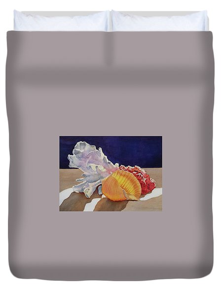 Shells On A Shelf Duvet Cover