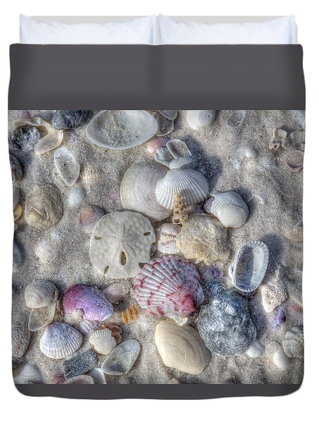 Shells, Siesta Key, Florida Duvet Cover