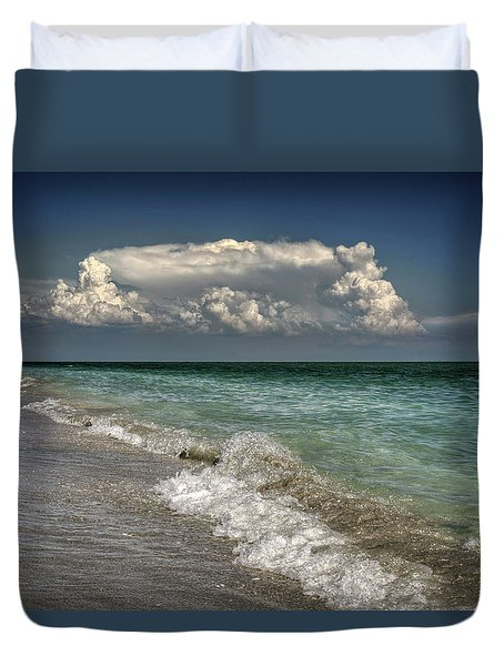 Shells, Surf And Summer Sky Duvet Cover