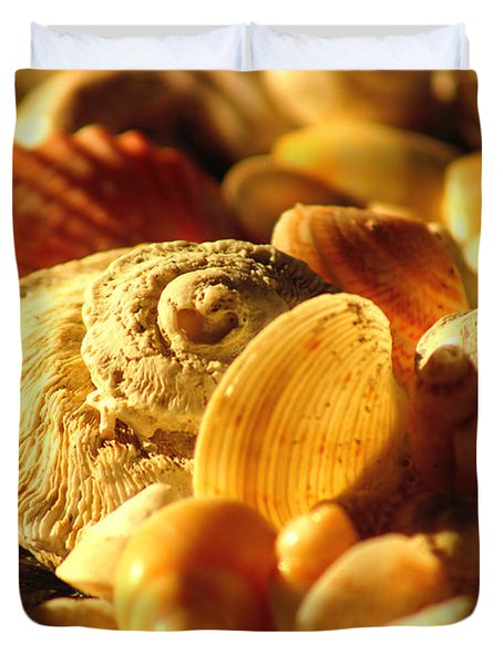 Duvet Cover featuring the photograph Shells Xiv by Cassandra Buckley
