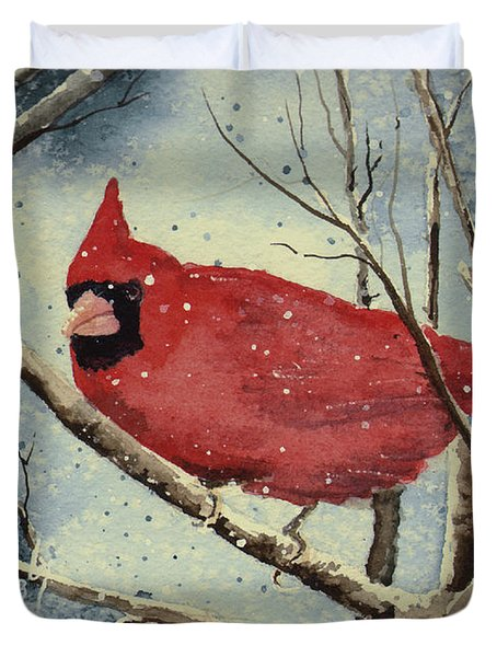Shelly's Cardinal Duvet Cover