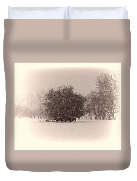Shelter From The Storm Duvet Cover by Erica Hanel