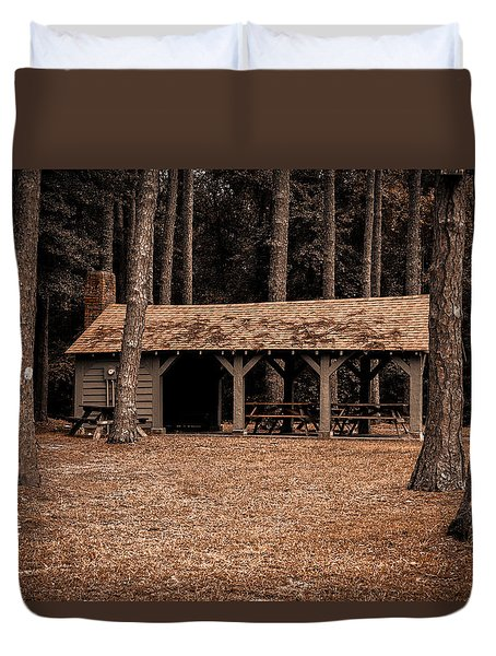 Shelter In The Woods Duvet Cover