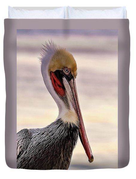 Shelter Island's Pelican Duvet Cover by Martina Thompson