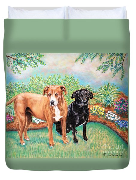 Shelter Rescued And Loved Duvet Cover by Patricia L Davidson